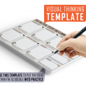 Six Helpful Steps for Eliminating Fear Visual Thinking Template