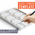 Relieving Stress Visual Thinking Template
