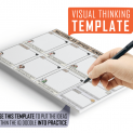 Difficult Emotions Visual Thinking Template
