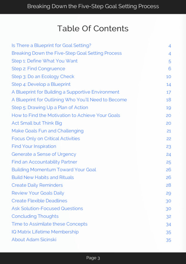 Goal Setting Process eBook