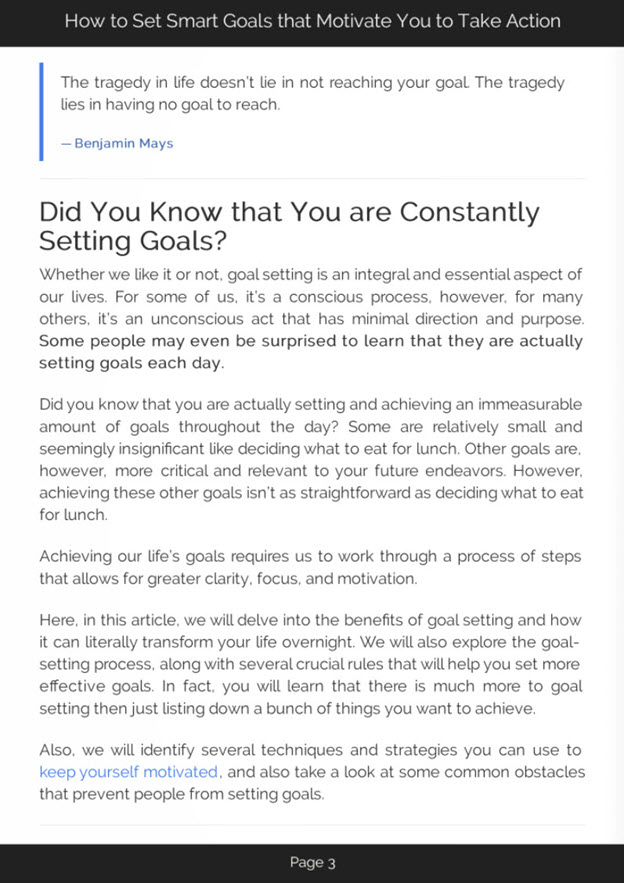 Smart Goal Setting eBook