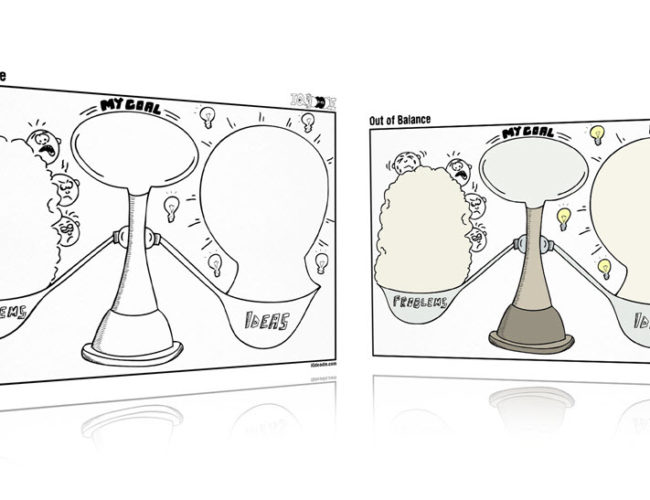 Out of Balance Visual Thinking Template