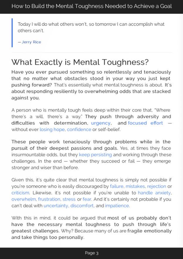 Mental Toughness eBook