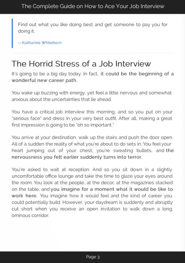 Acing a Job Interview eBook