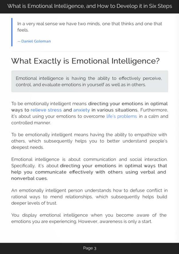 Developing Emotional Intelligence eBook Introduction